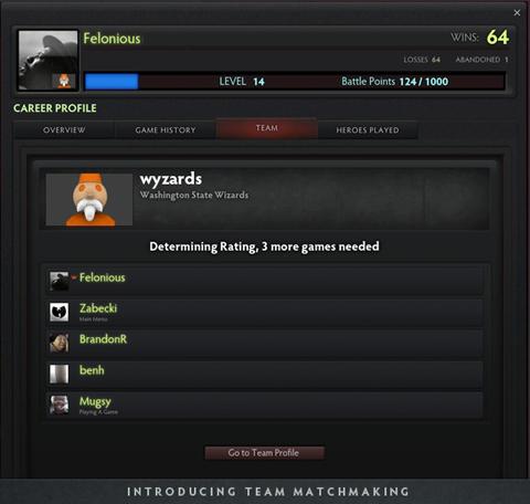 Team Matchmaking - bước tiến mới của DOTA2