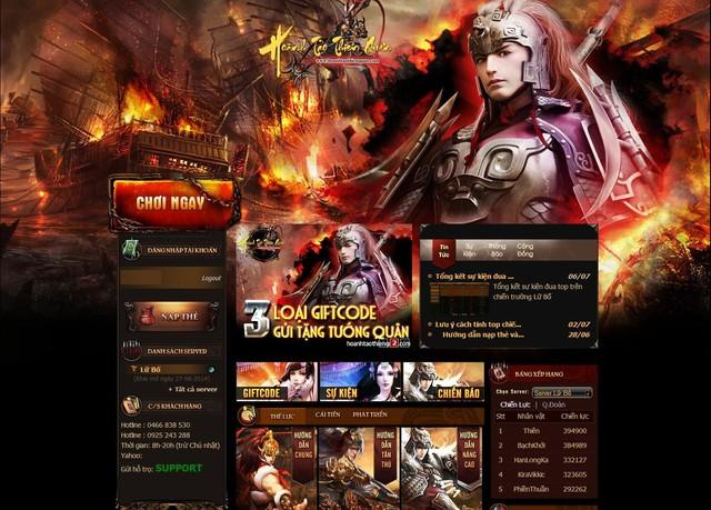 Sohagame xuất hiện trò chơi mới: Hoành Tảo Thiên Quân