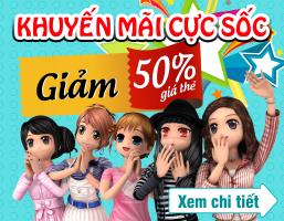Mua thẻ Game - Khuyến mãi cực Sốc- Giảm 50% giá thẻ