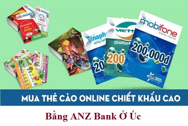 Cách Mua Thẻ Game Online Bằng ANZ Bank Ở Úc
