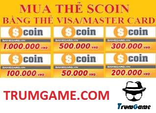 Mua thẻ Scoin qua thẻ Visa, Master Card cực nhanh ở nước ngoài
