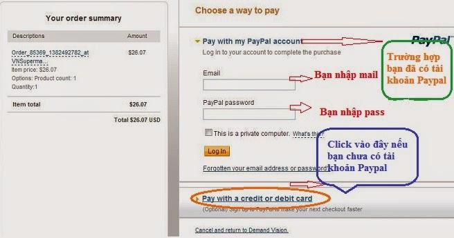 Cách mua thẻ game online qua Paypal