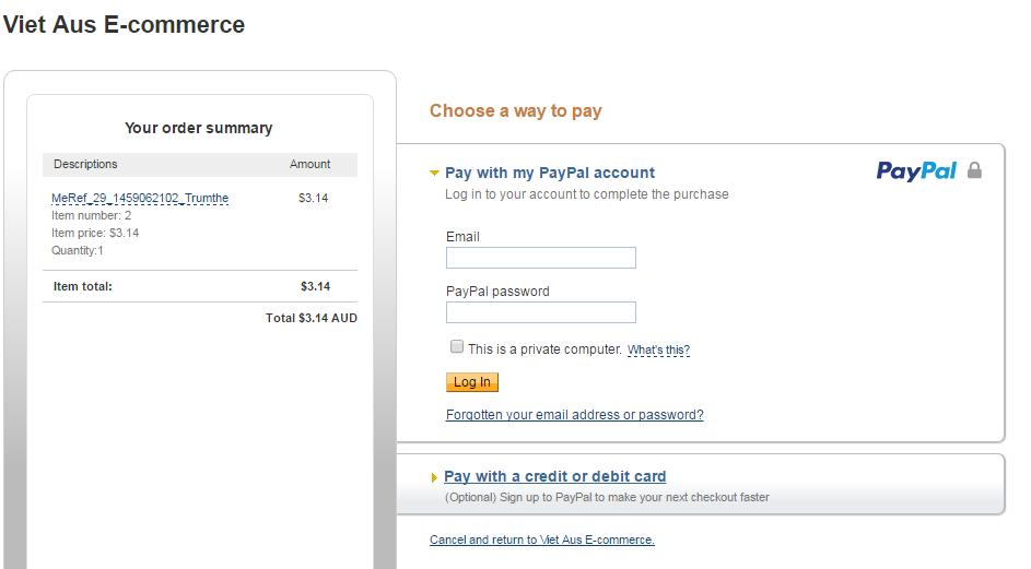 Mua thẻ Garena giá rẻ qua Paypal